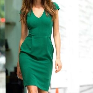 H&M Cap Sleeve Fitted Dress